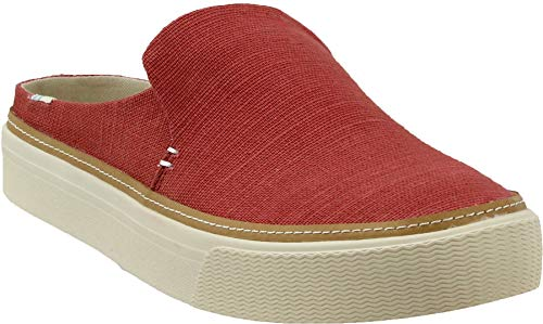 Red Canvas Espadrille - TOMS Women's Sunrise Spice Heritage Canvas 10 B US B (M)