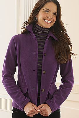 Women's Petite Stretch Fleece Shirt-collar Cardigan (UK Size 8 ...