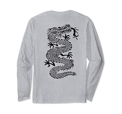 - ROCKSTAR Black Kung Fu Dragon - Martial Arts Tattoo Style Long Sleeve T-Shirt