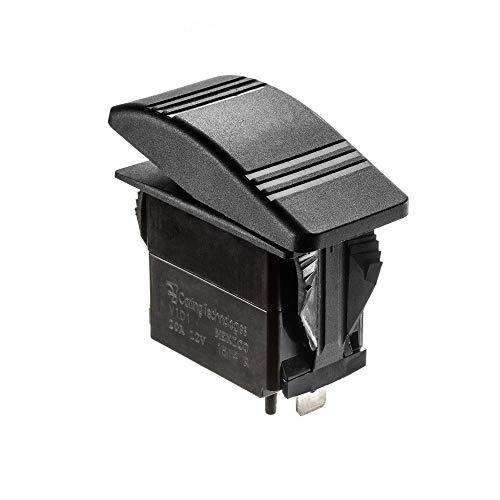 SEACHOICE 12801 Non-Illuminated Contura Rocker Switch On/Off Black