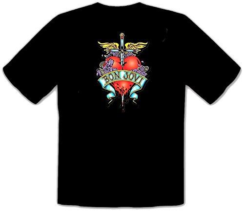 Bon Jovi SCHWARZE Rock Musik T-Shirt -533