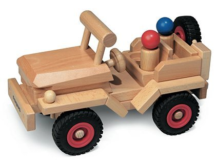 48 HOUR SALE!!! Fagus Wooden Classic Jeep (11 Inch)
