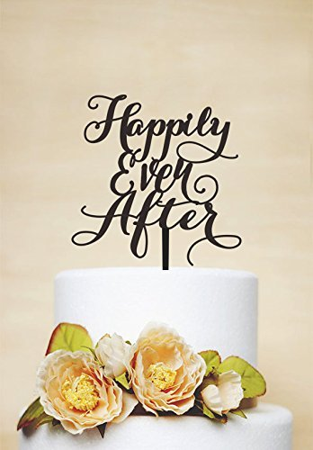 086a6f42a72 Image Unavailable. Image not available for. Color  Black Acrylic Happily  Ever After Wedding ...