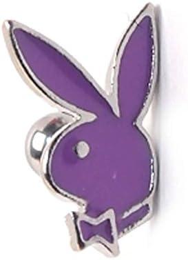 바디 피어 싱 16G PLAYBOY에 나 멜 컬러 스트레이트 바 벨 퍼플 316L 외과 용 스테인레스 / Body Piercing 16G PLAYBOY Enamel Color Straight Barbell Purple 316L Surgical Stainless Steel