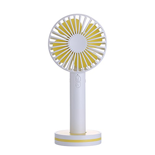 Votones Personal Mini Fan, Portable Handheld Electric Rechargeable Fan, Small Quiet Silent Fan with USB Foldable Handle Desktop for Home, Office, Travel, Camping and Beach-White by Votones
