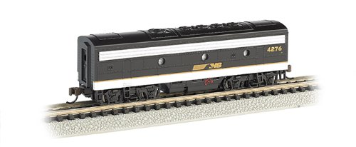 Bachmann Industries EMD F7-B Diesel Locomotive DCC Equipped Norfolk Southern Trainer Car, Black/Gray, N ()