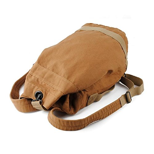 LJ&L Hombres y mujeres mochila al aire libre en general, mochila cilíndrica, mochila de senderismo, anti-fouling wearable ajustable, mochila de lona de alta calidad,A,27L A