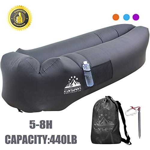 KARSEEN Inflatable Lounger Air Sofa Air Lounger Inflatable Lounge Lazy Sofa Bag Couch Sleeping Hammock Pool Float Portable for Indoors Outdoors Camping Travel Beach Waterproof