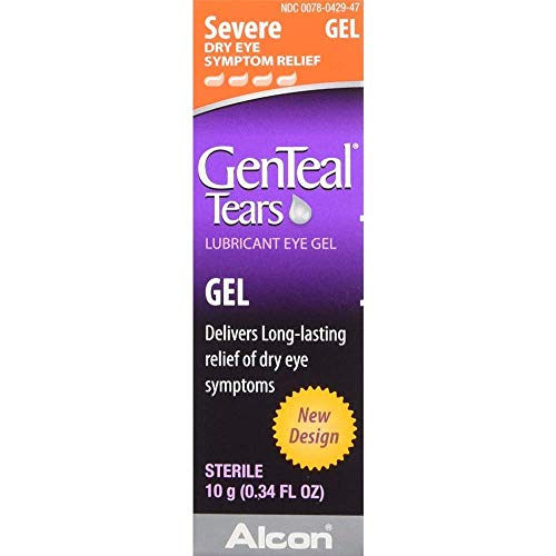 GenTeal Severe Dry Eye Relief Lubricant Eye Gel 0.34 oz (Pack of 6)