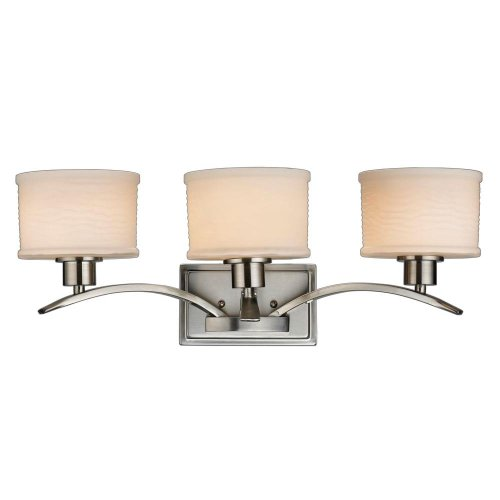 Hampton Bay Mayport Collection 3 Light Bath Bar Brushed Nickel (Clothing Ensemble Collection)