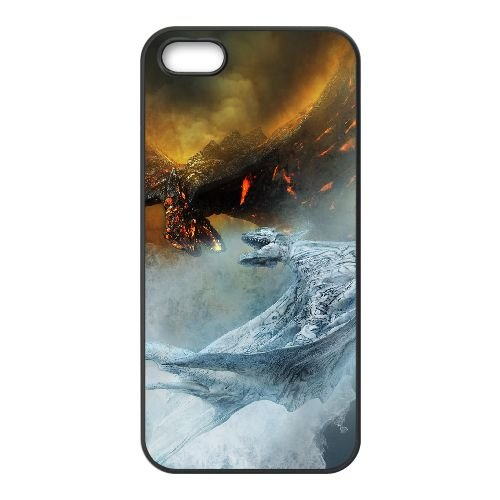 Fire And Ice The Dragon Chronicles coque iPhone 5 5S Housse téléphone Noir de couverture de cas coque EOKXLLNCD09857