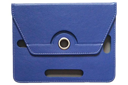 KANICT Rotating Tablet Leather Flip Case Cover Compatible for iBall Slide 6351 Q40i  Blue