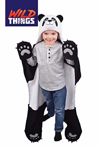 Wild Things Bam Bu Panda Bear Wearable Hooded Blanket by Fin (Panda Care Bear)