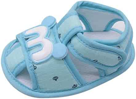76e493aa1c1 Lurryly Newborn Baby Girls Boys Cartoon Anti-Slip Footwear Crib Shoes  Sandals 0-18