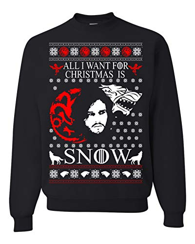 Tutiinca All I Want for Christmas is Snow Ugly Christmas Sweatshirts