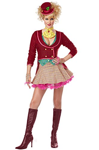 Hatter Costumes The Mad Sexy (California Costumes Women's The Mad Hatter Adult, Multi,)