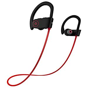 Bluetooth Headphones,Wireless Sports Earphones with Mic IPX7 Waterproof HD Stereo Sweatproof In Ear Earbuds for Gym Running Workout 6-8 Hour Battery Noise Cancelling Headsets For IOS and Android Cell Phones