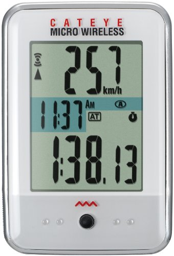 CatEye Micro Wireless Bicycle Computer CC-MC200W (White)