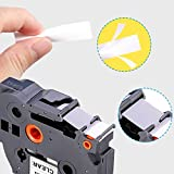 """IKONG Compatible Label Tape Replacement for Brother P-Touch TZe241 TZe441 TZe541 TZe641 TZe741 Laminated for PT-D400AD PT-D400VP PT-D450 PT-D600 PT-D600VP PT-P700 Label Maker, 3/4"""" x"""