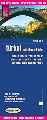 Reise Know-How Landkarte Türkei - Mittelmeerküste (1:700.000): world mapping project