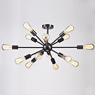 CLAXY Ecopower Light Industrial Satellite Shape Ceiling Light -- 14 lights