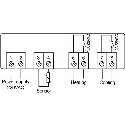 Controlador de temperatura, risepro Digital termostato ...