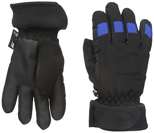 Nolan Gloves Big Boys' Freestyle Hybrid Ski Glove, Black/Blue, Large/X-Large