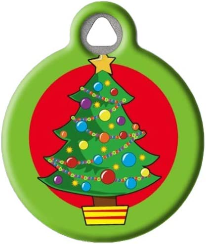Personalized Christmas Tree Collar ID Tag