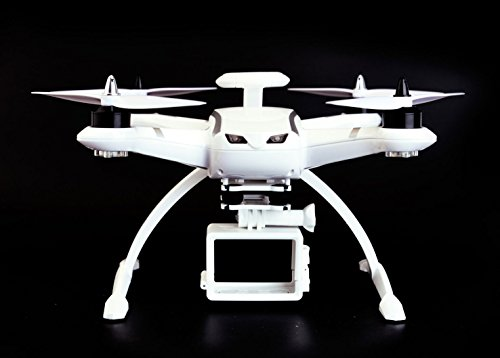 Aosenma CG035 Quad Copter Air Drone Double GPS 2.4Ghz RC Helicopter with Motor Brushless 20 Mins Flight Time 6-Axis Gyro Following Drone Headless Mode (Could be assemabled with GoPro) - White