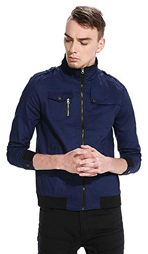 5 Harrington Hip Estilo Outerwear Béisbol Hop Chaquetas Unisex Navy Size Urban Color Basic De Jacket Chaqueta L Bomber Simple Long Sleeve tdqwTw