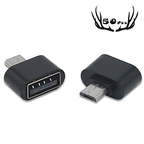 I9100 Phone Cell (50 Pack USB 2.0 Micro USB Male to USB Female Host OTG Adapter Micro USB to USB 2.0 OTG Adapter for Adroid/Samsung I9250 S3 I9100 Note 2 Google Nexus Sony Mobile Phones or Smart Tablets Black)