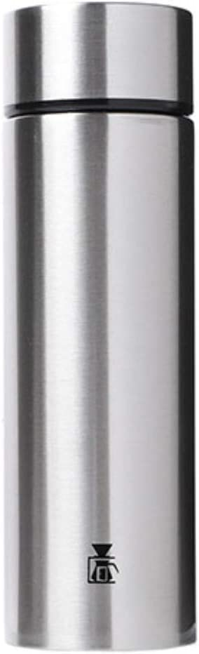 LOBBY539 Mini Pocket Bottle Tumbler 4.05 Ounce (Silver), Small Size Literally Portable Lightweight Stainless Steel Leak Proof Lid Water Thermos for Camping Travel Workout Walk