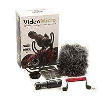 Micrófono de cámara Rode VideoMicro Compact con soporte de descarga Rycote Lyre