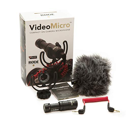 Rode VideoMicro Compact On-Camera Microphone with Rycote Lyre Shock Mount (Video Shock)