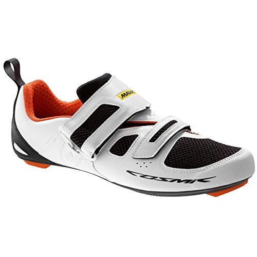 Mavic Cosmic Elite Tri Shoes - Men's White/Black/Orange, (Mavic Cosmic Carbone Ultimate)