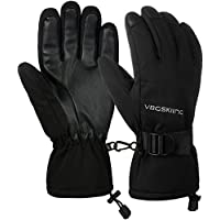VBG VBIGER Ski Gloves Waterproof Winter Gloves Warm Snow Snowboard Gloves Cold Weather Motorcycle Work Gloves for Women Men