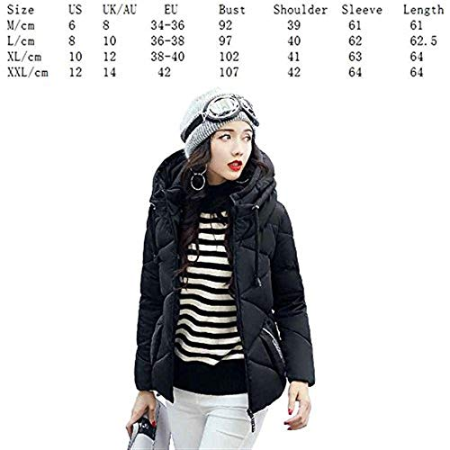 Stampato Casual Autunno Termico Calda 88 Cappotto Cappotti Especial Invernali A Fashion Imbottitura Donna Trapuntata Schwarz Cerniera Piumino Bobo Estilo Giacca Chiusura Incappucciato Giacche vtawqSw