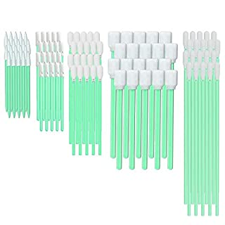 Multi-Purpose Cleanroom Foam Tip Cleaning Swab Kit for Camera, Optical Lens, Arts and Crafts, Painting, Gun, Printer, Automotive Detailing CK-FS100 (Multi-Size kit)