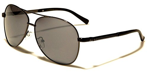Gunmetal Black Skyline Collection Classic Double Bridge Men'S Aviator - Skyline Police Sunglasses