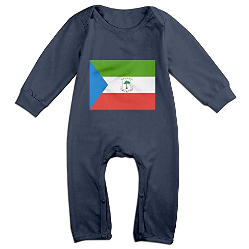 Flag of Equatorial Guinea Long-Sleeve Baby Bodysuit Baby Clothes Toddler Onesies Boys Girls Romper Jumpsuit Outfits ()