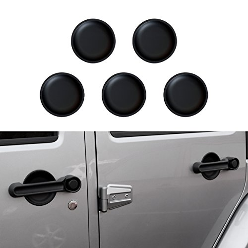 Door Handle Guards (ICars Matt Black Dish Shaped Door Handle Recess Guard Inserts Accessories for 2007 2008 2009 2010 2011 2012 2014 2013 2014 2015 2016 2017 Jeep Wrangler JK JKU 4 Door)