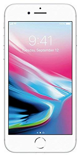 Apple iPhone 8, 64GB, Silver - For AT&T (Renewed)