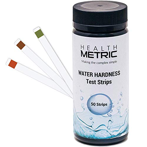 Water Hardness Test Kit - Quick and Easy Hard Water Test Strips for Water Softener Dishwasher Well Spa and Pool Water | 50 Strips at 0-425 ppm | Calcium and Magnesium Total Hardness Test