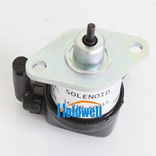 Holdwell Fuel Shut Off Solenoid for Kubota 1C010-60015 1C010-60016 1C010-60017 60014 60013 M9000 M8540 M9540 M95 M96 M105 M6800 -  HWS0362