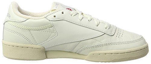 Sneakers Red Club excellent Reebok chalk Metallic silver 85 paperwhite Femme C Vintage Basses Gris FIRSaRqWO