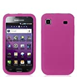 Hot Pink Silicone Rubber Gel Soft Skin Case Cover for Samsung Galaxy S 4G