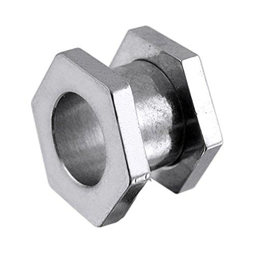 2.5MM Hexagon Surgical Steel Fit Ear Flesh Tunnel Body jewelry