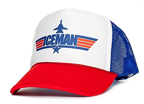 ICEMAN Top Gun Unisex-Adult Trucker Cap Hat -One-Size Multi (Royal/White/Red)