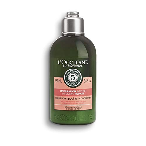 L'Occitane Aromachologie Intensive Repair Conditioner Enriched with 5 Essential Oils for Dry and Damaged Hair, 8.4 fl. oz.