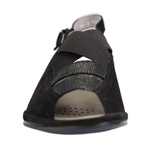 ara Damen Sandalette Schwarz Nubukleder Größe 36,5 bis 42 Weite-G Schwarz
